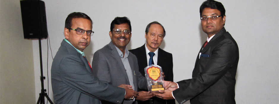 Felicitation of Singapore Chief Guest Mr Babu Paul, Head Chancery, Indian Embassy